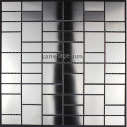 Mosaic stainless steel tile kitchen splashback argos