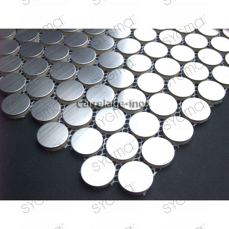 Mosaique inox douche salle de bain round20 carrelage for Carrelage inox