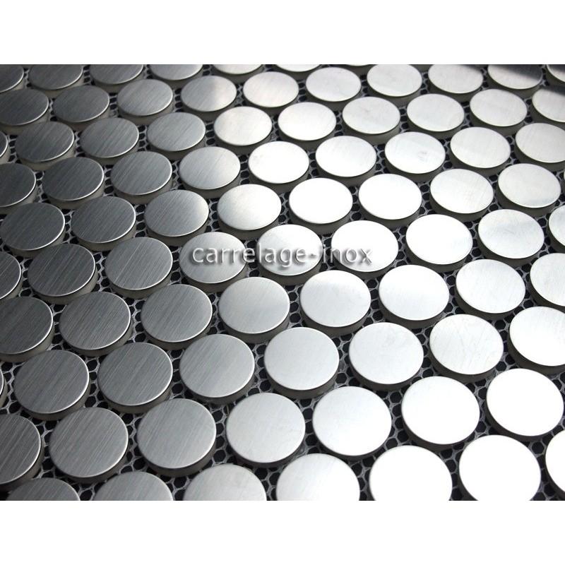 Mosaique inox douche salle de bain round20 carrelage - Mosaique inox ...