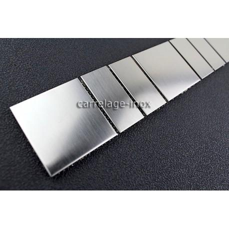 Listel inox frise acier metal mosaique carrelage bordure argos for Carrelage 1m 1m