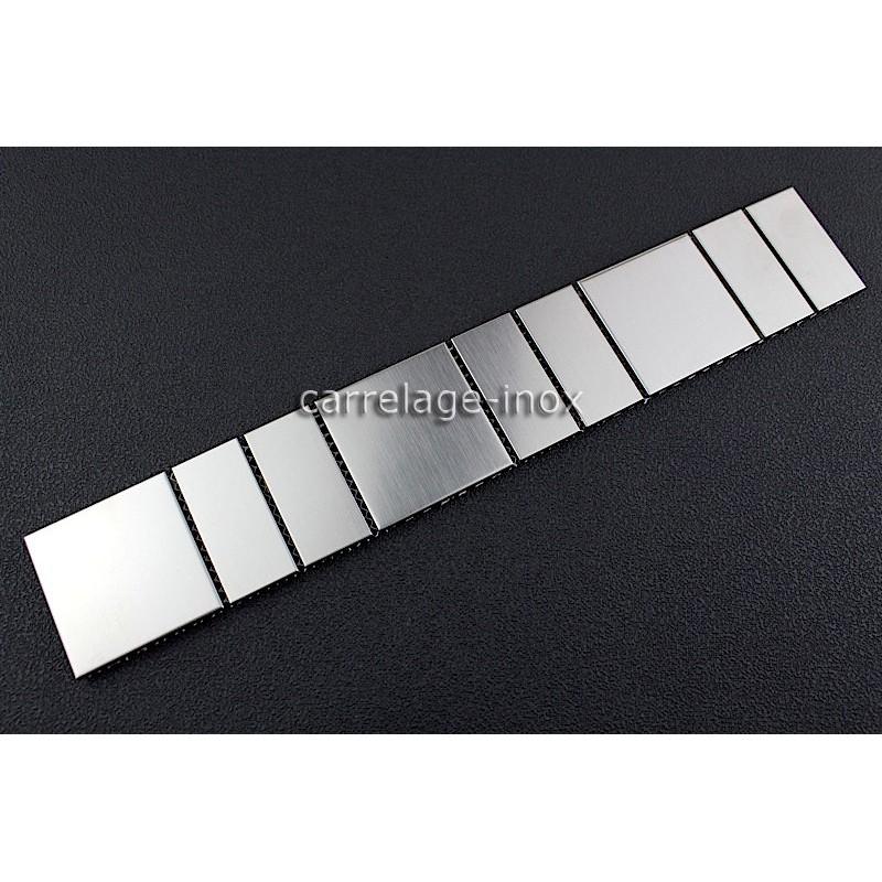 Listel inox frise acier metal mosaique carrelage bordure argos Bordure carrelage exterieur