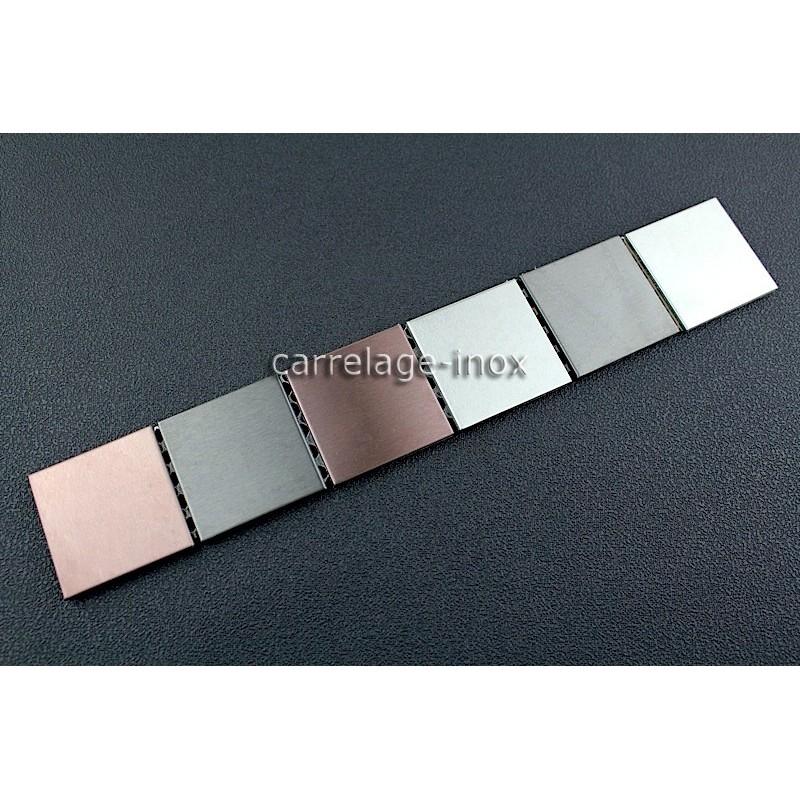 Listel inox frise acier metal mosaique carrelage bordure for Carrelage 1m 1m