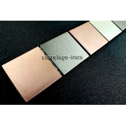 Listel inox frise acier metal mosaique carrelage bordure PRIMEA