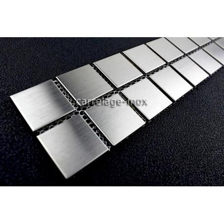 listel inox frise acier metal mosaique carrelage bordure regular 30. Black Bedroom Furniture Sets. Home Design Ideas