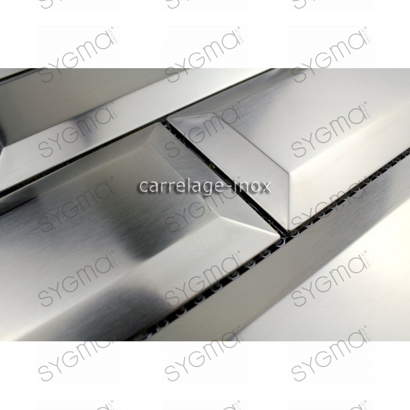 Tile metro stainless steel mosaic splashback kitchen metro for Carrelage metro