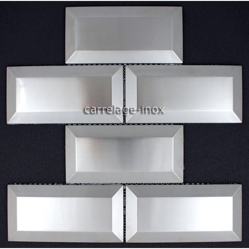 carrelage metro inox 1m2 mosaique inox cr dence cuisine carrelage. Black Bedroom Furniture Sets. Home Design Ideas