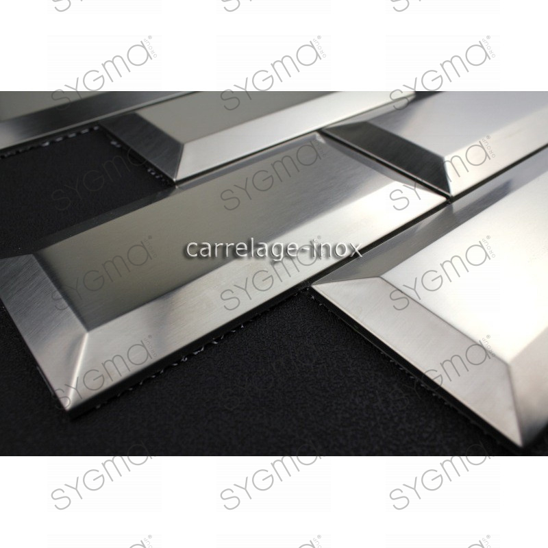 tile METRO stainless steel 1m2 mosaic stainless steel splashback ...