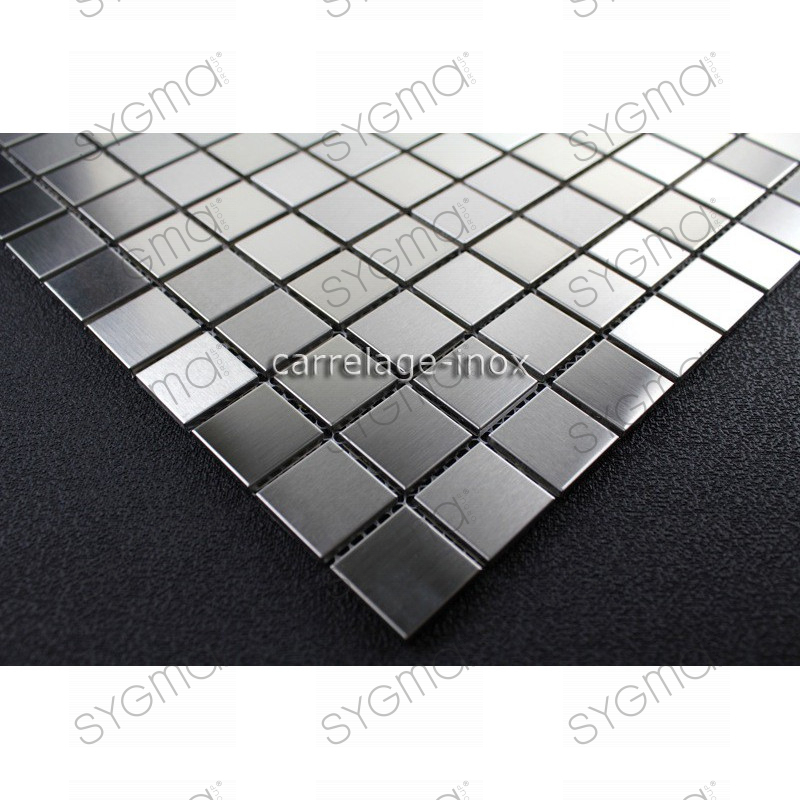 Tile mosaic stainless steel shower mosaic bathroom mixing for Carrelage inox credence
