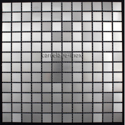 mosaique inox 1 m2 carrelage faience metal MIXTION