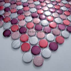 Mosaique aluminium carrelage 1 plaque CIRCLE VIOLET