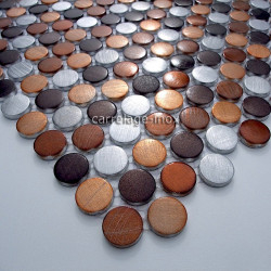 mosaic aluminium floor shower room bathroom circle brown