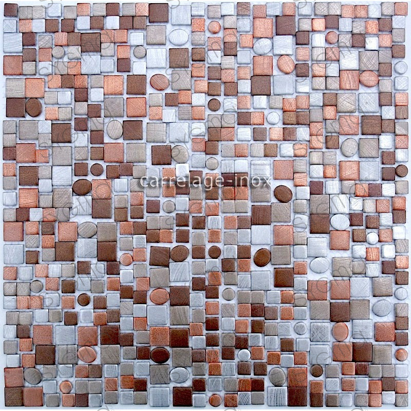 Tile mosaic aluminum tile kitchen splashback trendy beige for Carrelage 90x90 beige