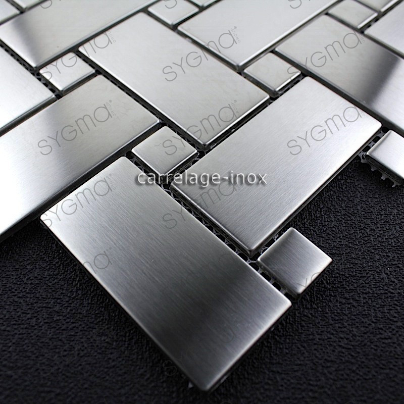 Carrelage inox credence cuisine mosaique sonate for Credence carrelage