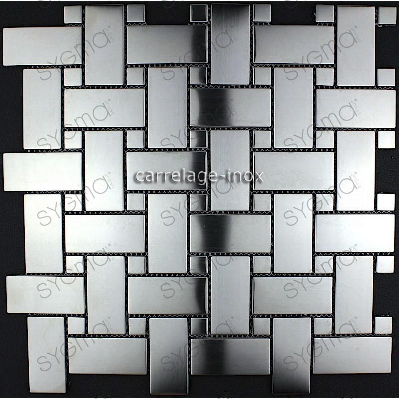 Carrelage inox credence cuisine mosaique sonate for Carrelage pour mosaique