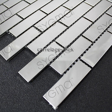 Mosaic polished stainless steel tile stainless steel for Mosaica carrelage