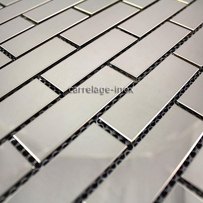 Mosaico de acero inoxidable pulido de baldosas de acero for Azulejos de cocina de loza