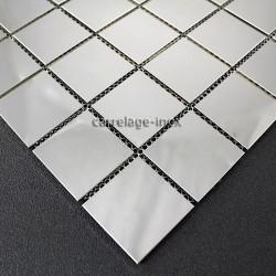 Mosaique et carrelage inox 1 plaque credence faience REGULAR 48