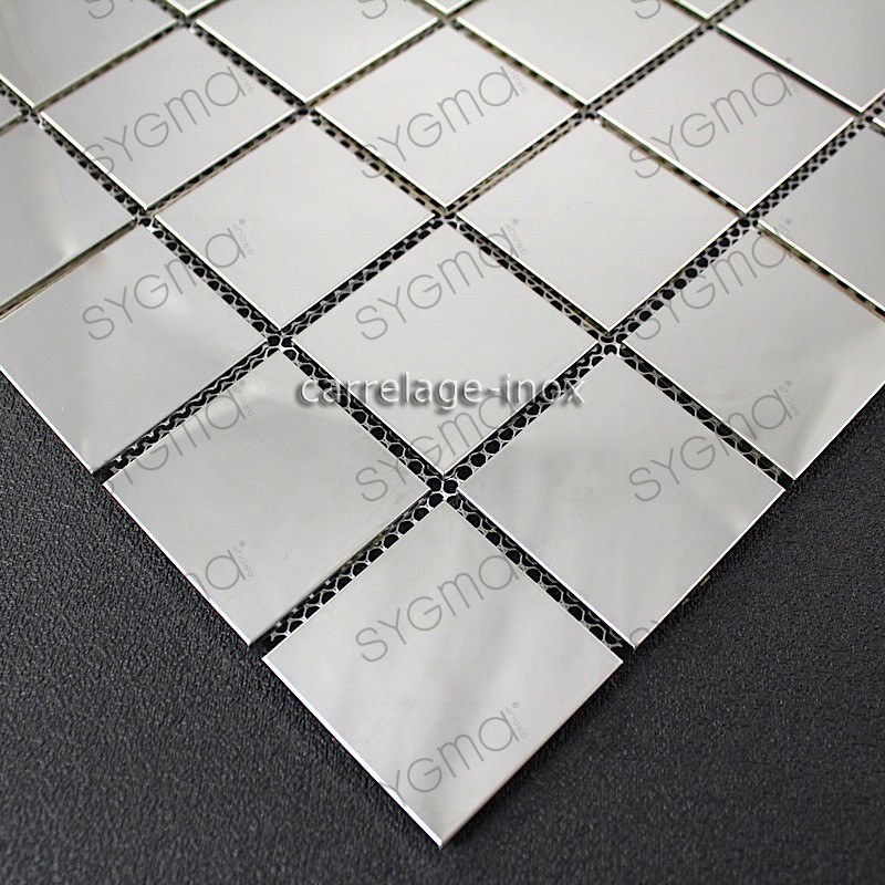 Carrelage inox miroir mosaique cr dence cuisine regular 48 miroir carrelage for Miroir mosaique design