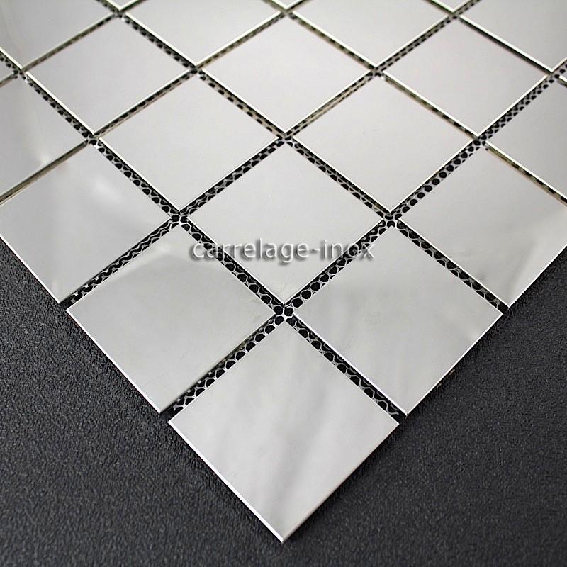 teja de acero inoxidable espejo de mosaico splashback cocina regular 48 espejo carrelage. Black Bedroom Furniture Sets. Home Design Ideas