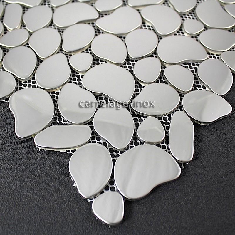 Mosaic Stainless Steel Mirror Mosaic Splashback Kitchen Galet