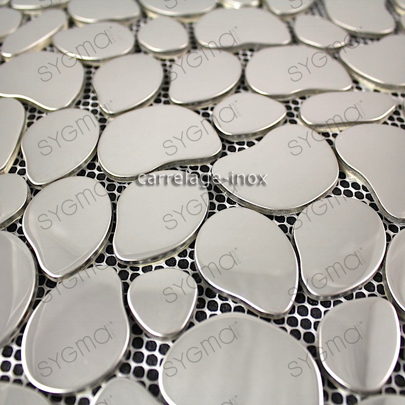 mosaic stainless steel mirror mosaic splashback kitchen