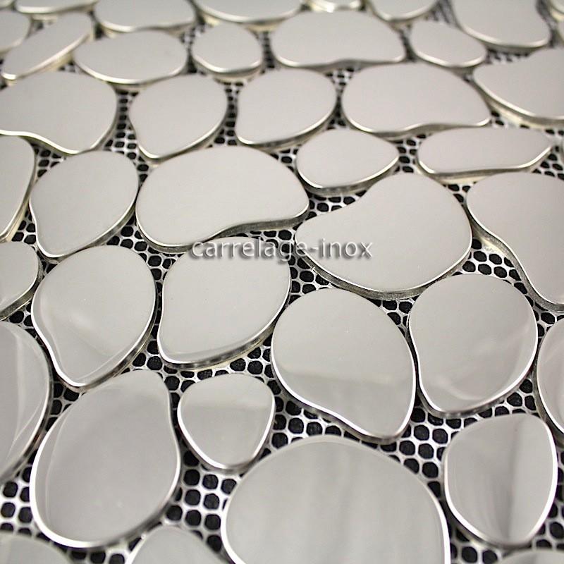 mosaique inox miroir mosaique cr dence cuisine galet miroir carrelage. Black Bedroom Furniture Sets. Home Design Ideas