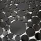 mosaic stainless steel splashback-kitchen mosaic shower Focus Noir