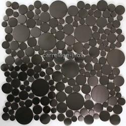 carrelage inox brosse noir mosaique salledebain LOOP NOIR