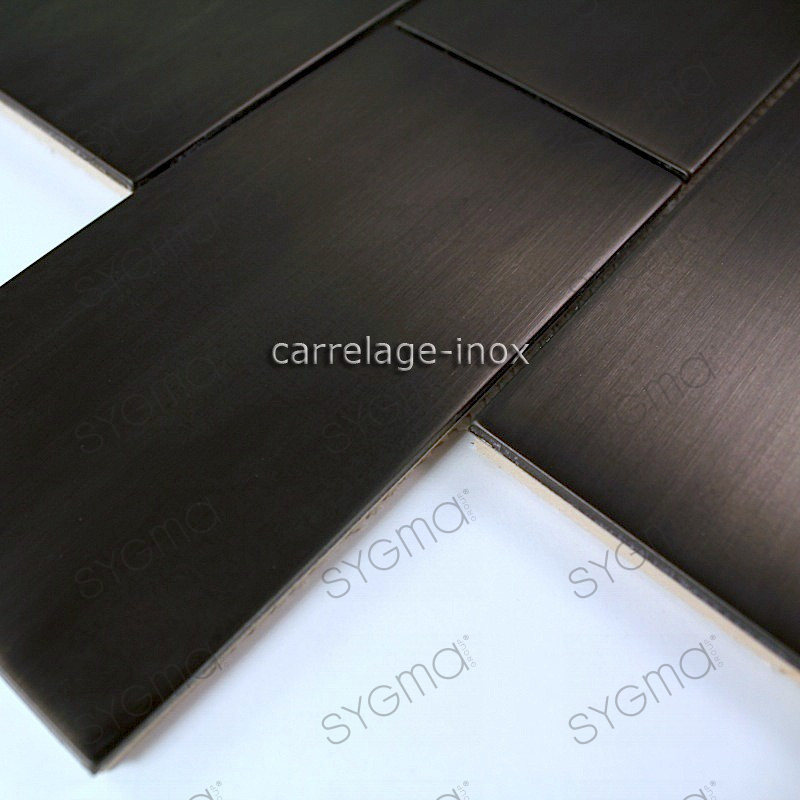 Awesome cuisine carrelage noir photos for Carrelage inox fr