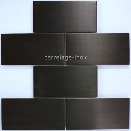 mosaique et carrelage inox, faience cuisine BRIQUE 150