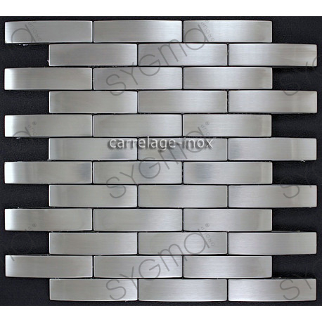 Mosaique inox carrelage inox faience cuisine factory for Carrelage inox cuisine