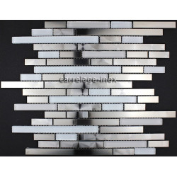Mosaique inox, carrelage inox modele BRIQUE 48