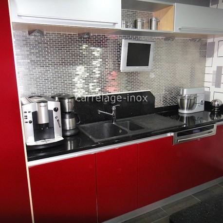 mosa que inox 1m2 carrelage inox fond de hotte brique 48. Black Bedroom Furniture Sets. Home Design Ideas