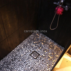 Mosaique inox 1 m2 carrelage faience credence GALET
