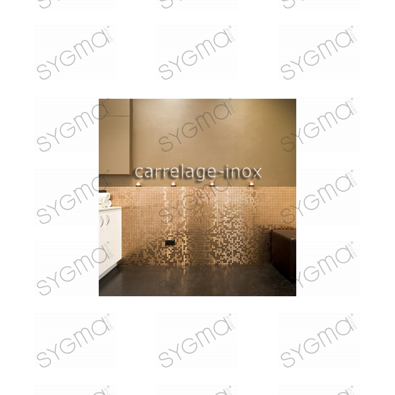 mosaico de acero inoxidable splashback cocina mosaico ducha mezcla de cobre carrelage. Black Bedroom Furniture Sets. Home Design Ideas