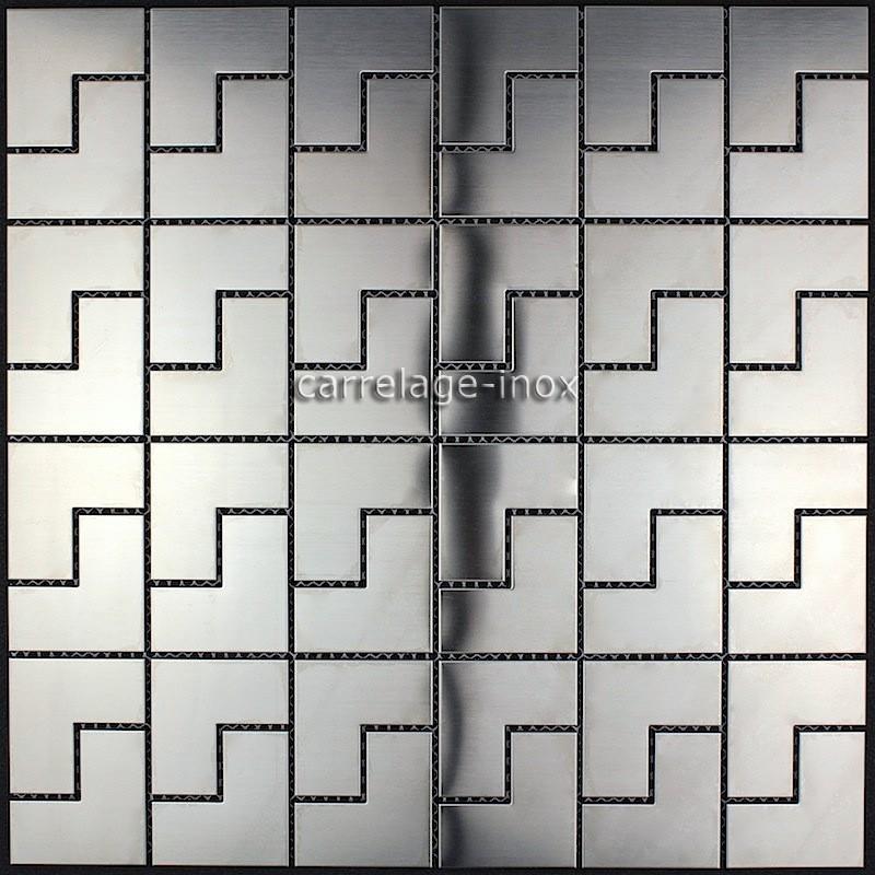 Mosaic stainless steel splashback kitchen mosaic shower for Plaque credence