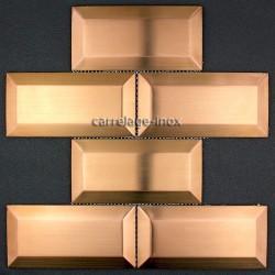 carrelage METRO  inox mosaique acier METRO CUIVRE