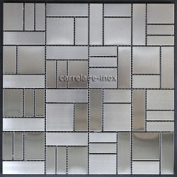 Mosaique inox carrelage faience credence LOFT