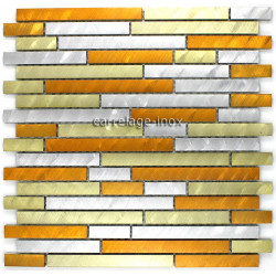 Mosaique aluminium carrelage 1 plaque BLEND GOLD