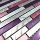 carrelage en aluminium mosaique modele BLEND VIOLET