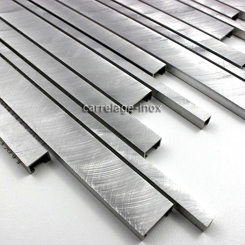 Mosaique aluminium carrelage cuisine cr dence phantom for Inox ou aluminium cuisine