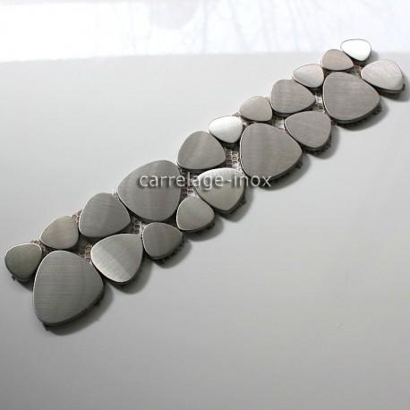 Listel inox mosaique carrelage frise acier metal LASKA