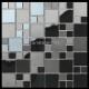 mosaique en inox noir mat et miroir OKEN