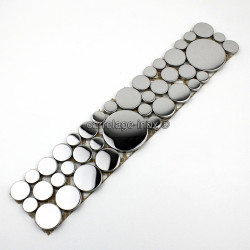 mosaic frieze stainless steel LOOP MIRROR