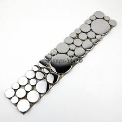 mosaico del friso de acero inoxidable LOOP MIROIR