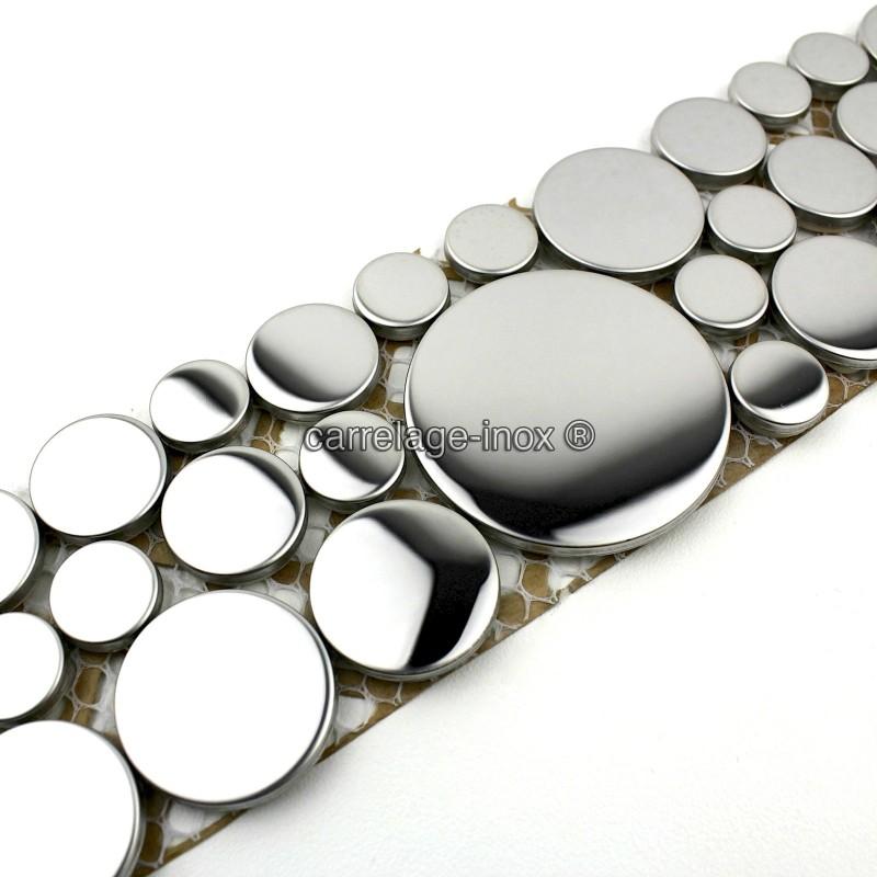 mosaique frise en inox loop miroir carrelage. Black Bedroom Furniture Sets. Home Design Ideas