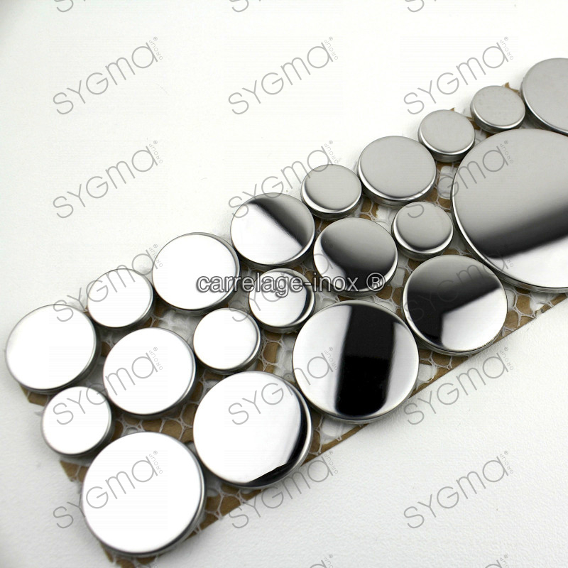 Mosaic frieze stainless steel loop mirror carrelage for Carrelage frise