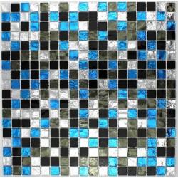 mosaïque douche mosaïque salle de bain en verre gloss suki