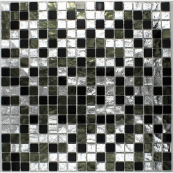Shower and bathroom mosaic tile glass Strass Nero
