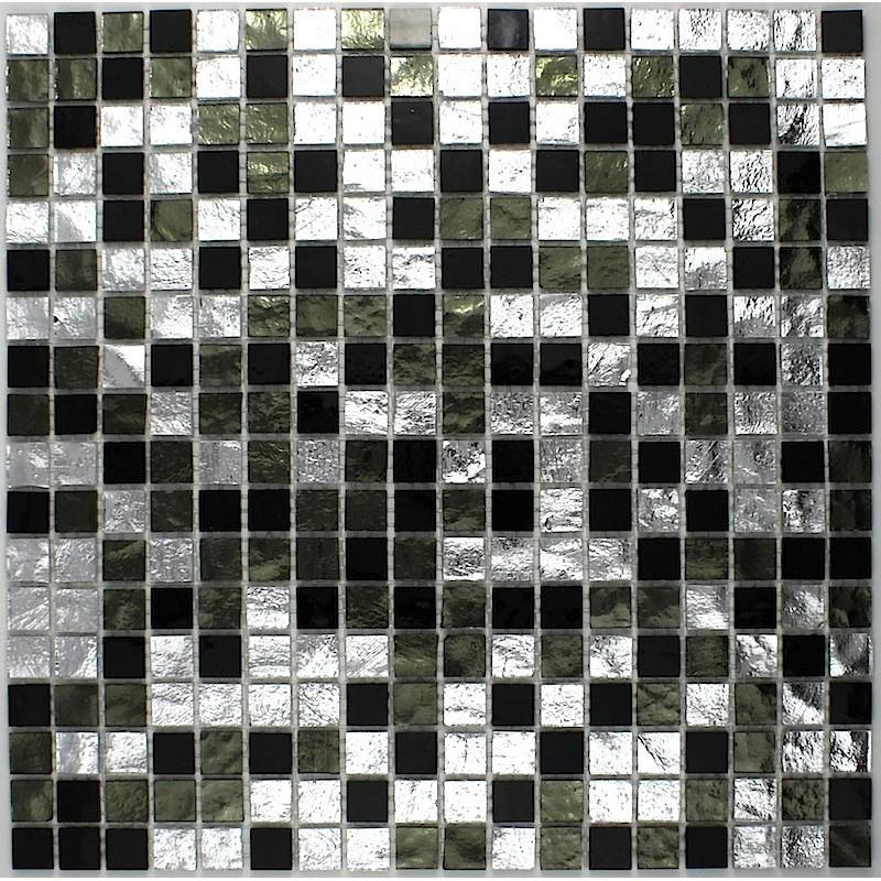 Bathroom mosaic tile glass gloss nero carrelage for Mosaica carrelage